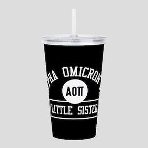 Alpha Omicron Pi Littl Acrylic Double-wall Tumbler
