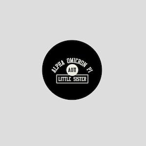 Alpha Omicron Pi Little Athletic Mini Button