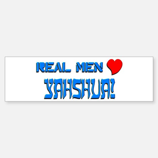 Real Men 1 Bumper Bumper Bumper Sticker