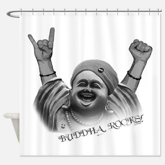 Buddha Rocks! Shower Curtain