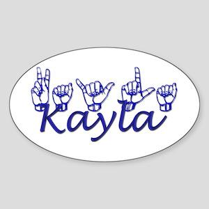 Kayla Oval Sticker