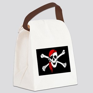 Pirate flag Canvas Lunch Bag