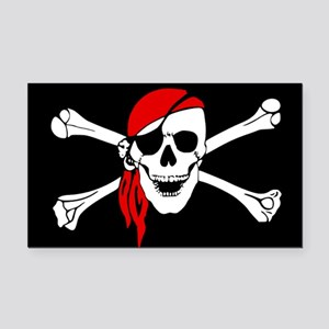 Pirate flag Rectangle Car Magnet
