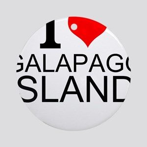 I Love Galapagos Islands Round Ornament