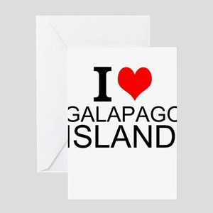 I Love Galapagos Islands Greeting Cards