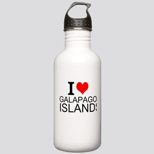 I Love Galapagos Islands Water Bottle
