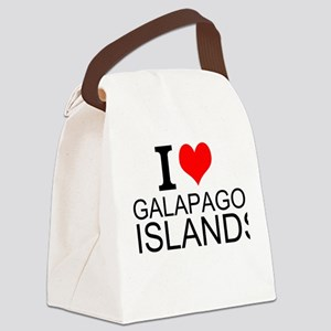 I Love Galapagos Islands Canvas Lunch Bag
