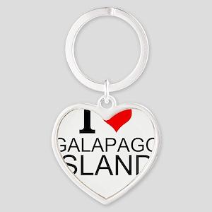 I Love Galapagos Islands Keychains