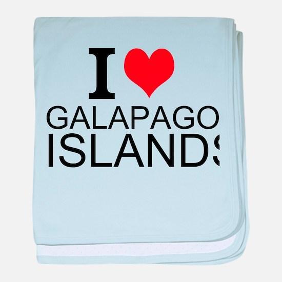 I Love Galapagos Islands baby blanket