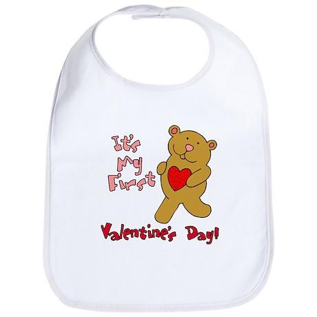 First Valentines Day Bib