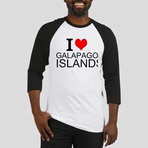 I Love Galapagos Islands Baseball Jersey