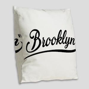 Brooklyn NYC Burlap Throw Pillow