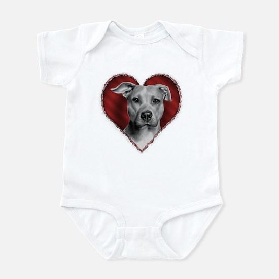 Pit Bull Terrier Valentine Infant Bodysuit