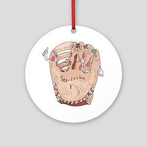 Baseball Glove Ornament (Round)