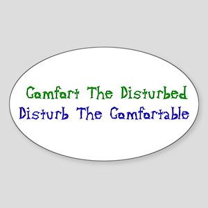 Disturbed Oval Sticker