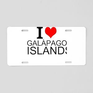 I Love Galápagos Islands Aluminum License Pla