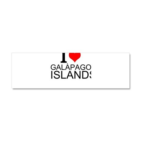 I Love Galápagos Islands Car Magnet 10 x 3