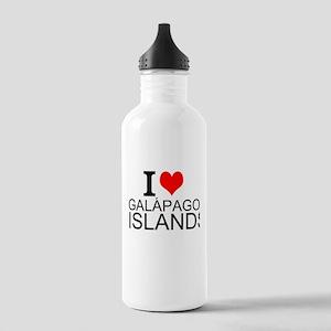 I Love Galápagos Islands Water Bottle