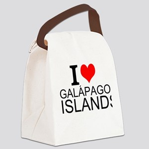 I Love Galápagos Islands Canvas Lunch Bag