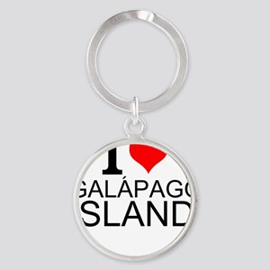 I Love Galápagos Islands Keychains