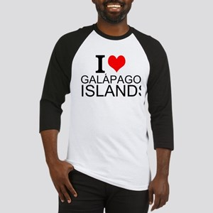 I Love Galápagos Islands Baseball Jersey