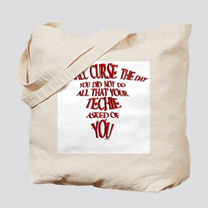 Techie Curse The Day Tote Bag