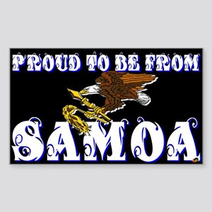 Proud To Be From Samoa Rectangle Sticker