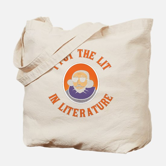 Funny Lit Tote Bag