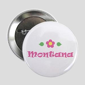 "Pink Daisy - ""Montana"" Button"