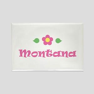 "Pink Daisy - ""Montana"" Rectangle Magnet"