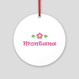 "Pink Daisy - ""Montana"" Ornament (Round)"