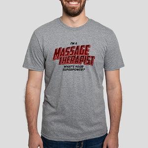 I'm A Massage Therapist Wha Mens Tri-blend T-Shirt