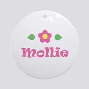"Pink Daisy - ""Mollie"" Ornament (Round)"