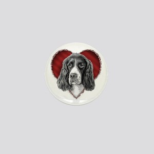 Springer Spaniel Valentine Mini Button