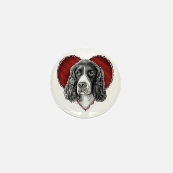 Springer Spaniel Valentine Mini Button