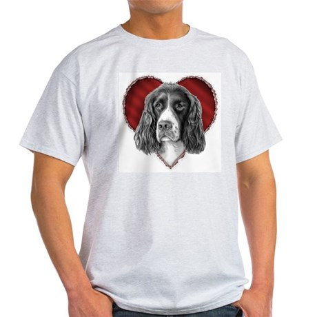 Springer Spaniel Valentine Light T-Shirt