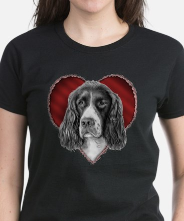 Springer Spaniel Valentine Women's Dark T-Shirt