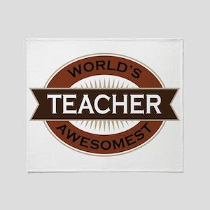 Teacher (World's Awesomest) Throw Blanket