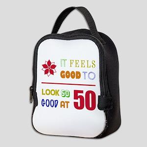 Funny 50th Birthday (Feels Good) Neoprene Lunch Ba