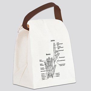 hand anatomy Canvas Lunch Bag
