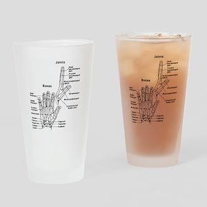 hand anatomy Drinking Glass
