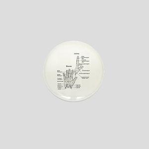 hand anatomy Mini Button