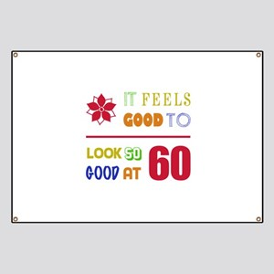 funny 60th bday banners cafepress