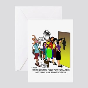 Inflatable Pocket Potty Greeting Card