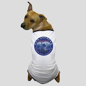 LA Hollywood round Dog T-Shirt