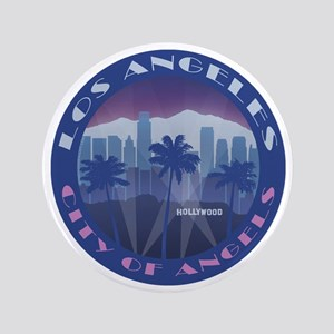 "LA Hollywood round 3.5"" Button"
