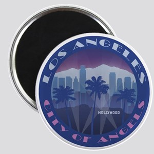 LA Hollywood round Magnets