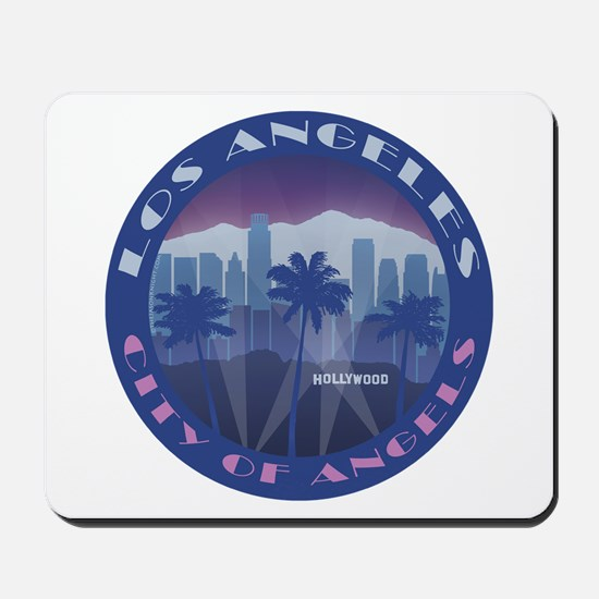 LA Hollywood round Mousepad