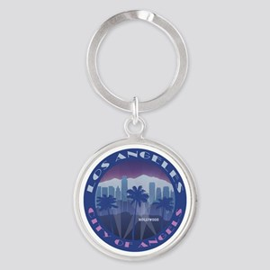 LA Hollywood round Keychains