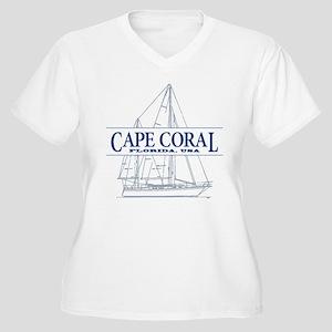 Cape Coral - Women's Plus Size V-Neck T-Shirt